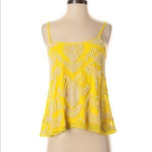 NWOT Yumi Kim Anthropologie Yellow Beaded Tank Top